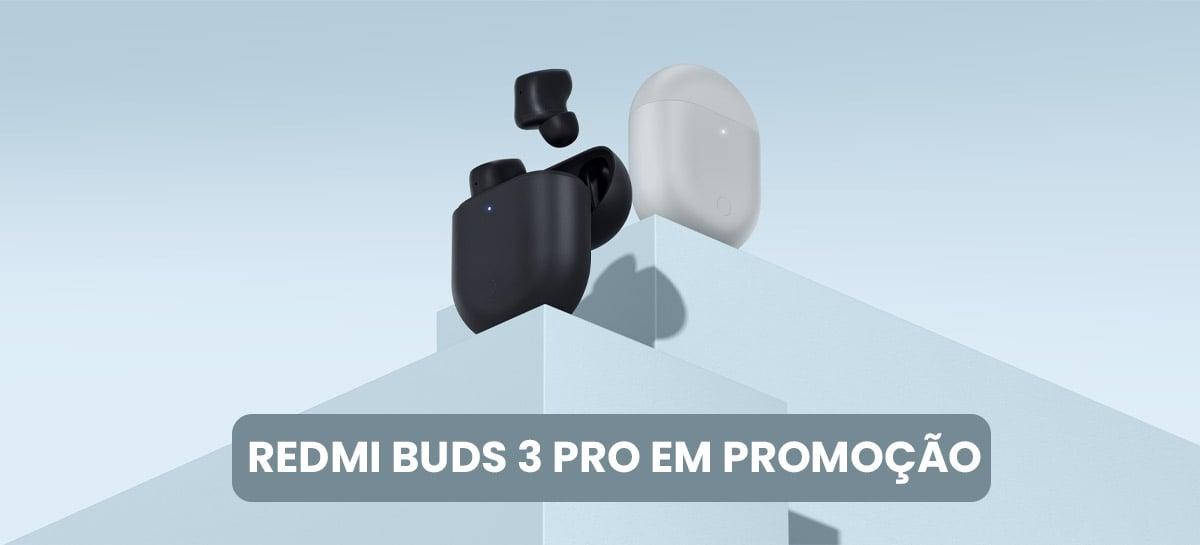 Novo fone Xiaomi Redmi Buds 3 Pro com especificações de alta qualidade por R$ 181