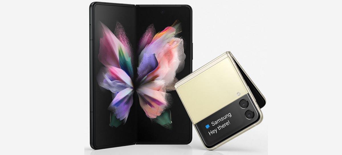 Renderizações revelam o visual dos Samsung Galaxy Fold 3 e Flip 3
