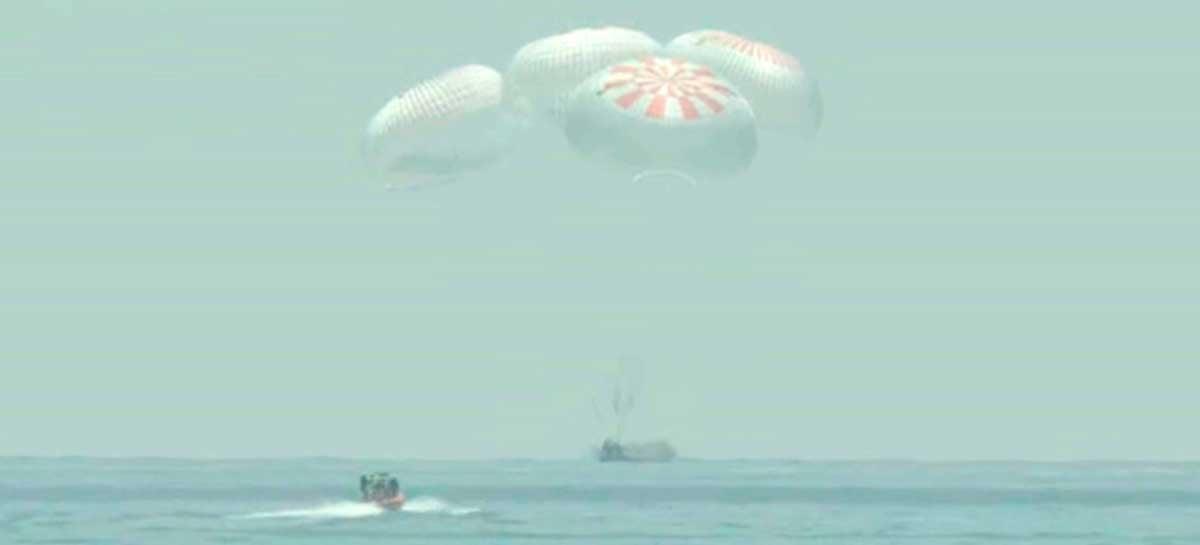 SpaceX faz história novamente com o pouso da missão Crew Dragon