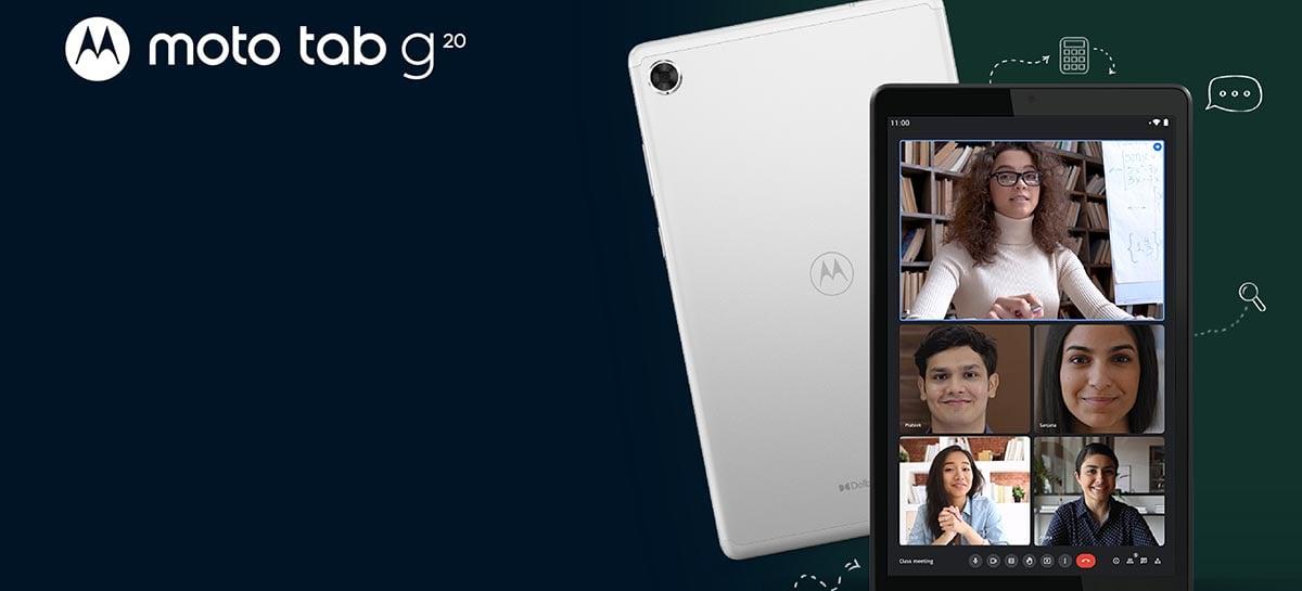 Motorola lança tablet Moto Tab G20 com tela de 8 polegadas e chipset Helio P22T