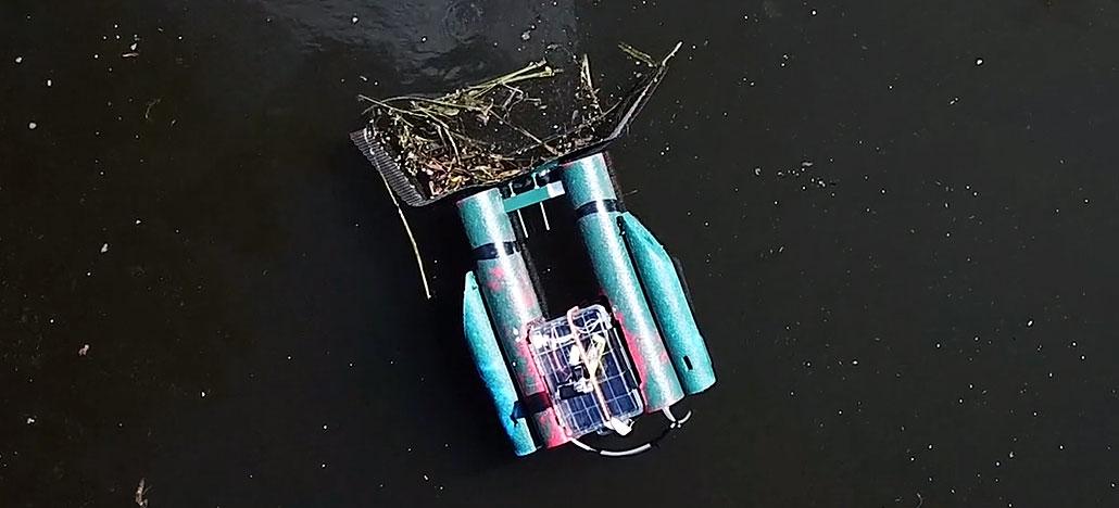 Robô controlado via internet quer deixar você limpar um rio remotamente
