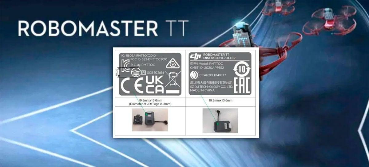 DJI RoboMaster Telo TT - Pequeno drone programável - chega em breve