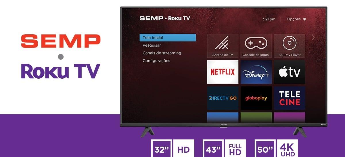 Semp TCL anuncia parceria com a Roku no Brasil para Smart TVs