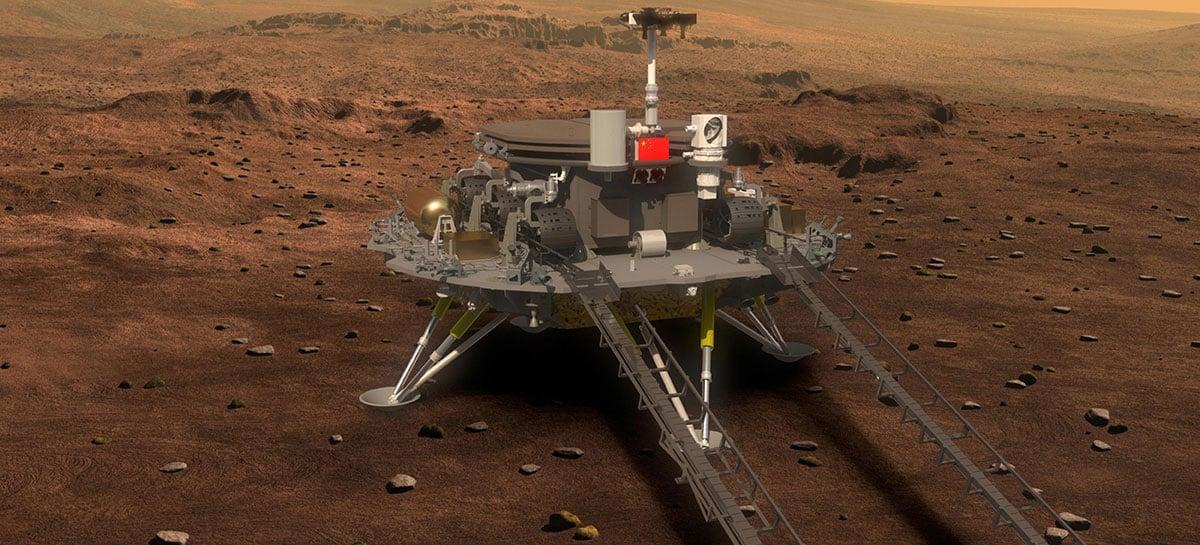 Rover chinês Zhurong explora Marte uma semana após o pouso