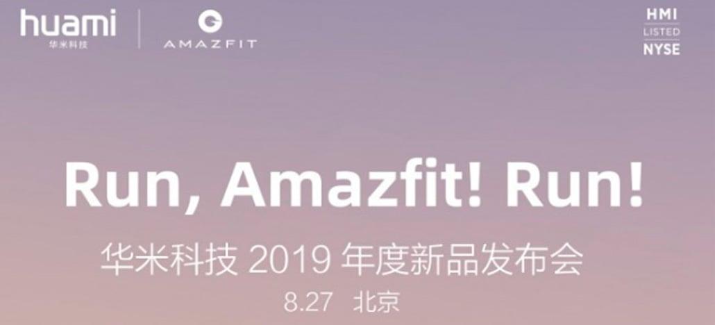 Huami pode apresentar Amazfit Sports Watch 3 em evento no dia 27 de agosto