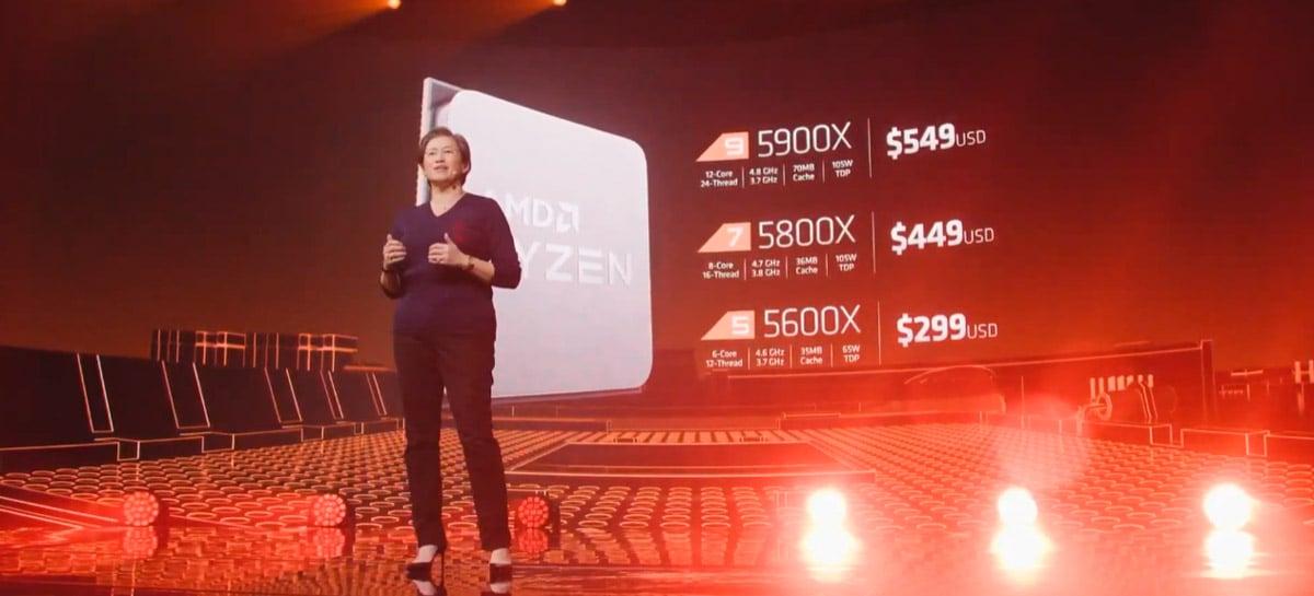 AMD apresenta processadores Ryzen 5000, que chegam em novembro por preços a partir de US$ 299