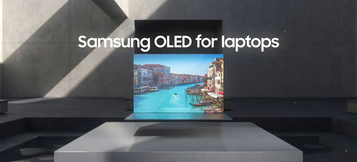 Samsung apresenta notebooks com display OLED e webcam embaixo da tela