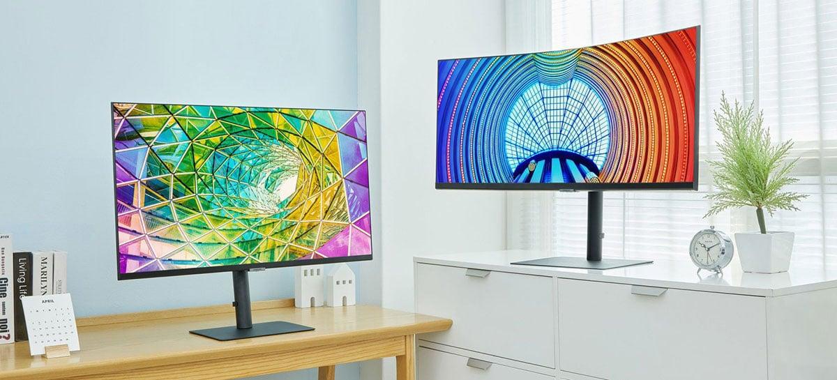 Samsung lança monitores S8, S7 e S6 com resoluções entre 1440p e 4K