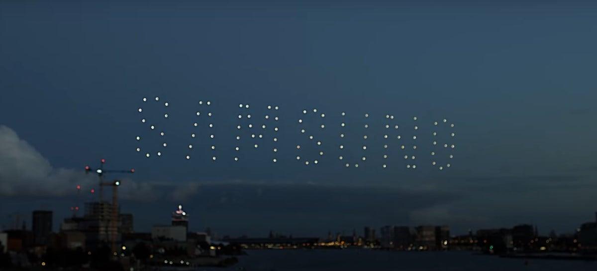 Samsung dá show com drones no céu da Holanda para promover o Galaxy Z Fold 3