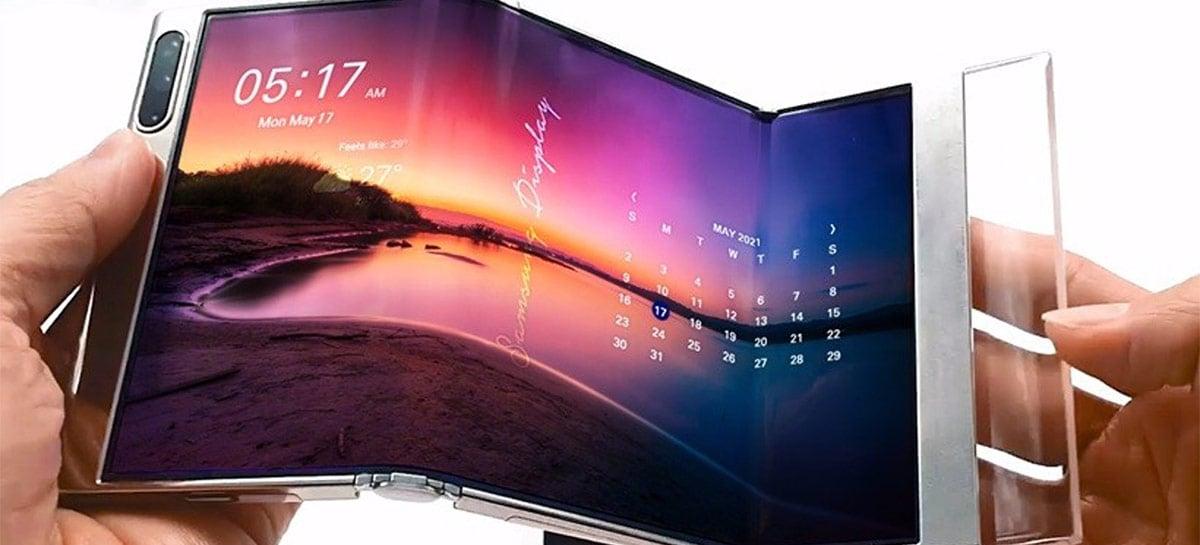 Samsung mostra novos displays flexíveis e enroláveis em evento