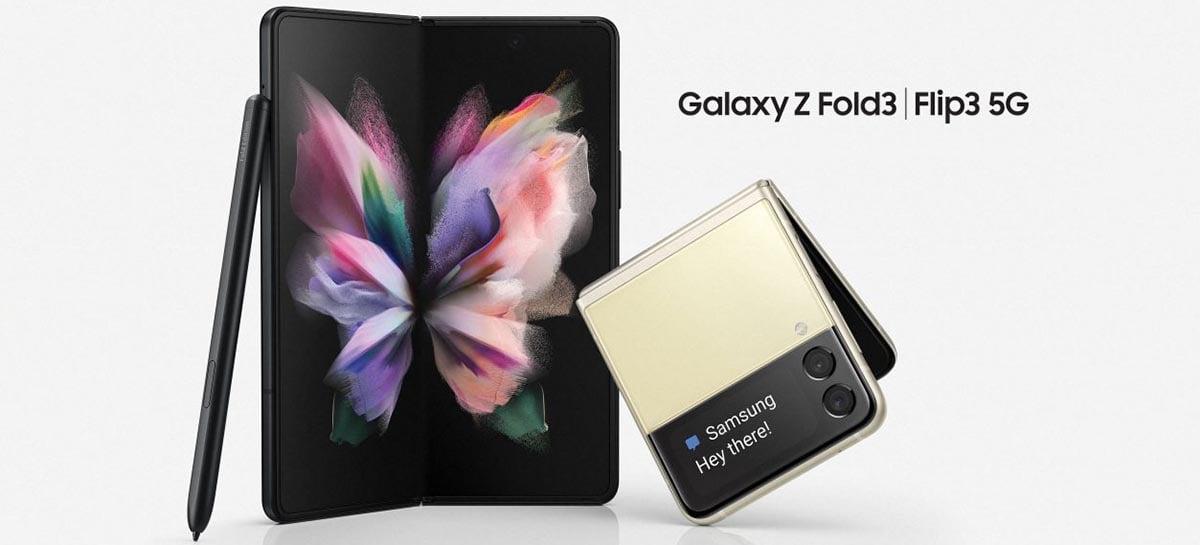 Samsung espera vender 6,5 milhões de Galaxy Z Fold 3 e Flip 3 em 2021