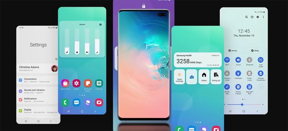 Samsung está liberando o One UI 3.0 com Android 11 para a série Galaxy S10