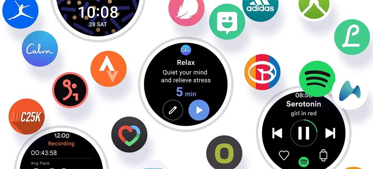 Samsung exibe um pouco do Wear OS que virá no novo Galaxy Watch 4