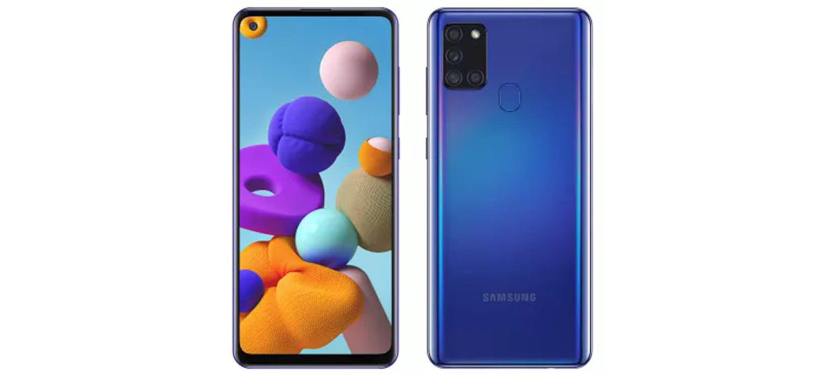 Samsung anuncia Galaxy A21s com design parecido com modelos Galaxy S20