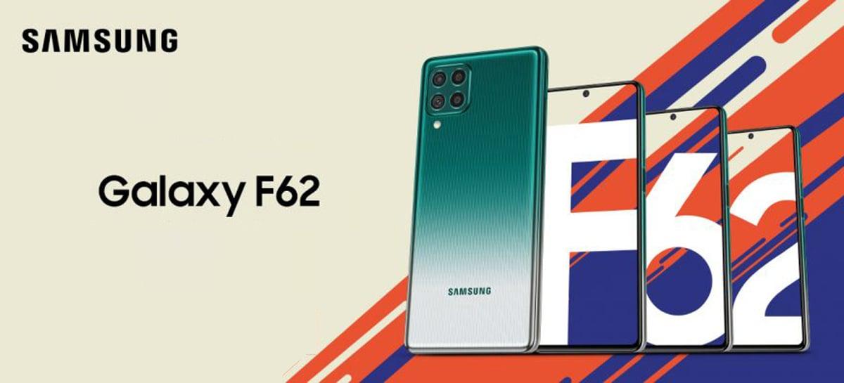 Samsung lança o Galaxy F62 com bateria de 7.000mAh e câmera de 64MP