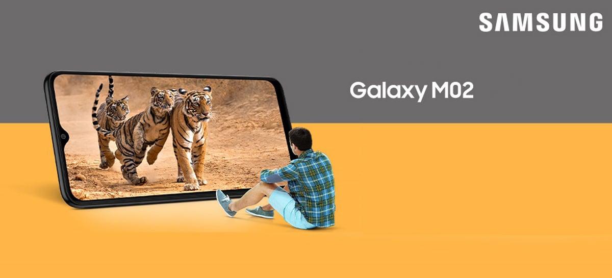 Samsung lança Galaxy M02 com tela de 6,5 polegadas e bateria de 5.000mAh