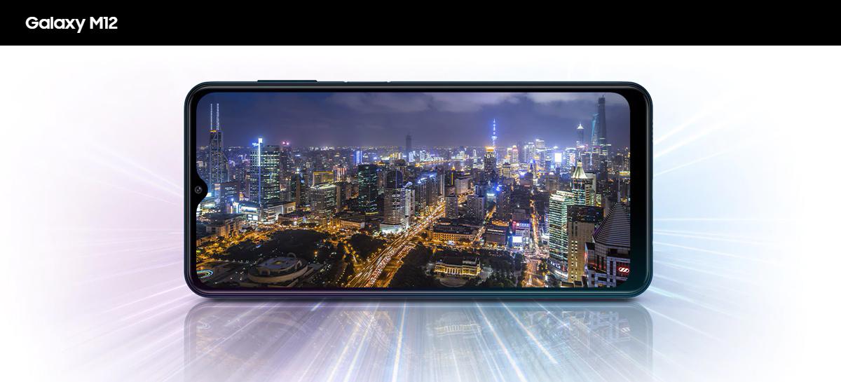 Samsung Galaxy M12 traz Exynos 850, câmera de 48MP e bateria de 6.000mAh