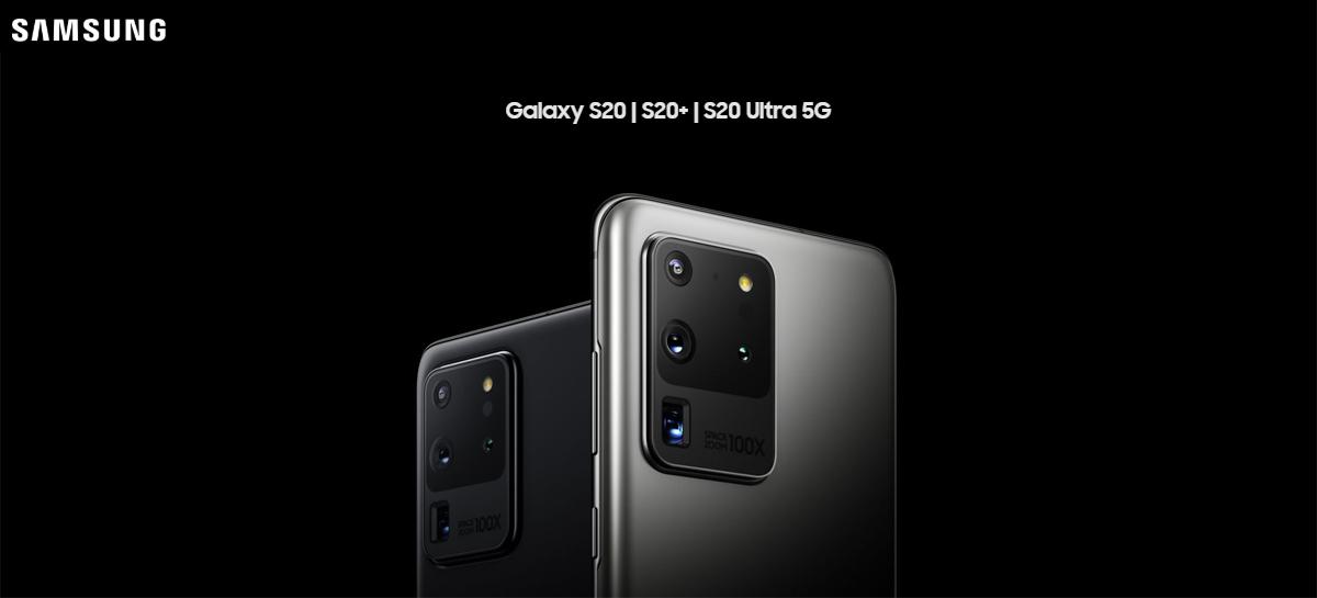 Samsung disponibilizará atualização para corrigir problemas no Galaxy S20 relatados pelos usuários