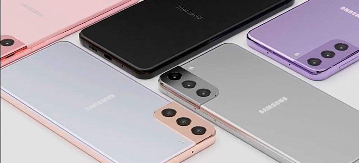 Samsung Galaxy S21 aparece em renderização revelando o design do aparelho