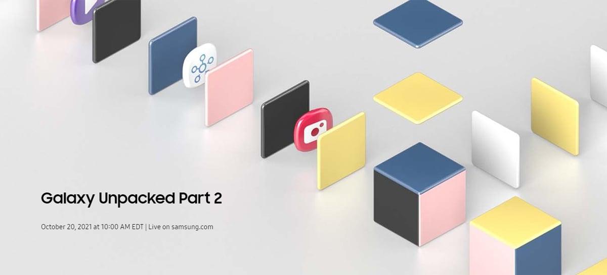 Samsung marca evento Galaxy Unpacked Parte 2 para 20 de outubro