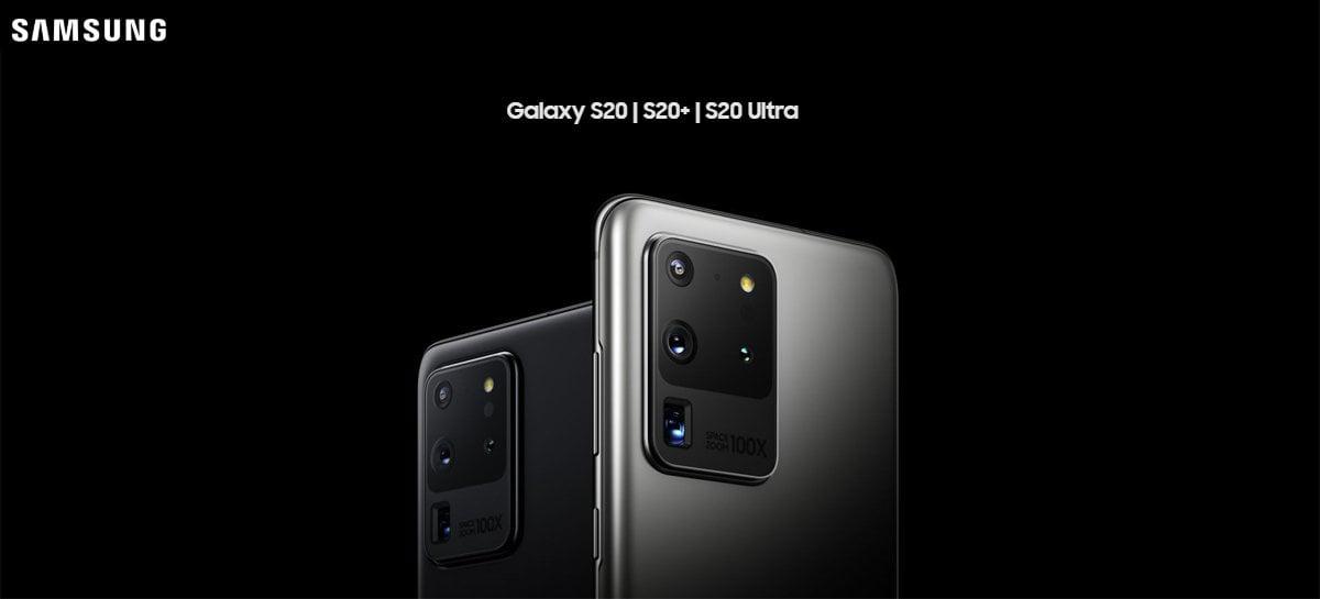 Nova atualização para linha Galaxy S20 melhora câmeras, especialmente do S20 Ultra