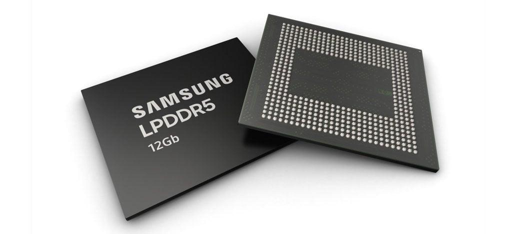 Samsung vai começar produção de memórias LPDDR5 de 12 GB neste mês