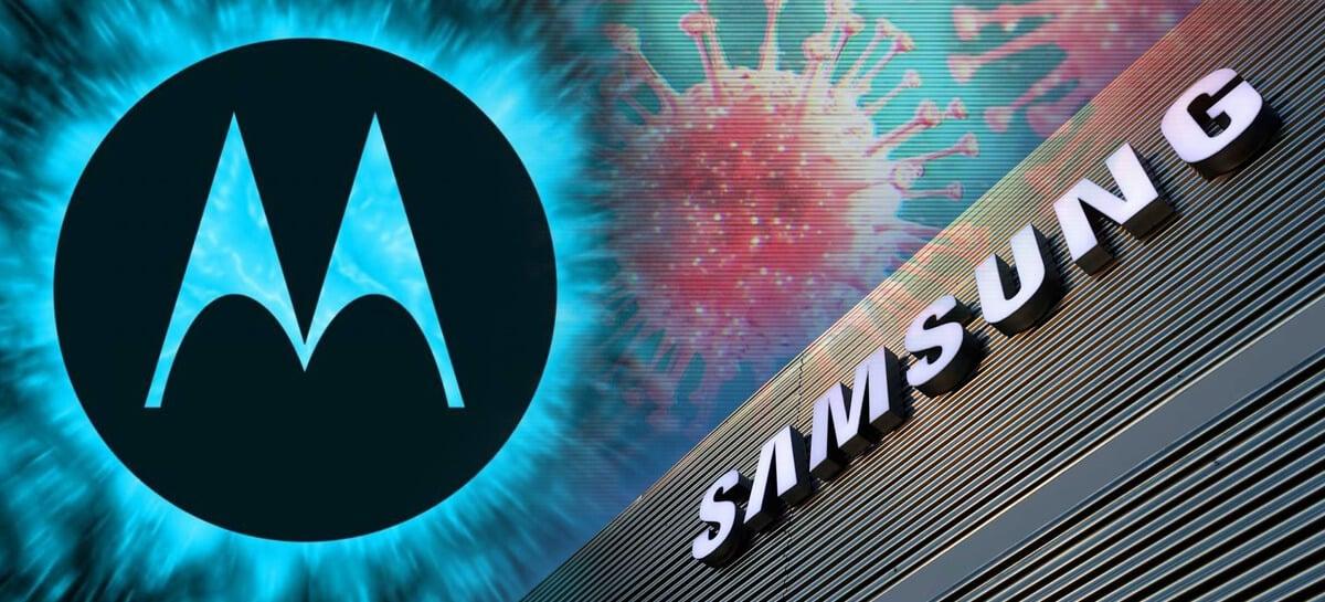 Samsung e fabricante de aparelhos Motorola no Brasil reduzem operações por conta do Coronavírus