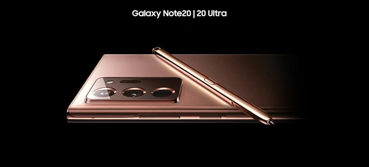 Galaxy Note 20 e Galaxy Note 20 Ultra recebem primeira atualização de software