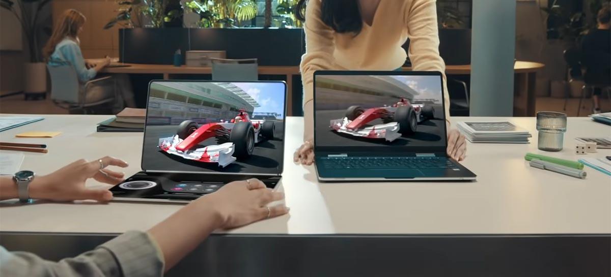 Samsung estaria desenvolvendo um notebook com tela dobrável de 17 polegadas [RUMOR]