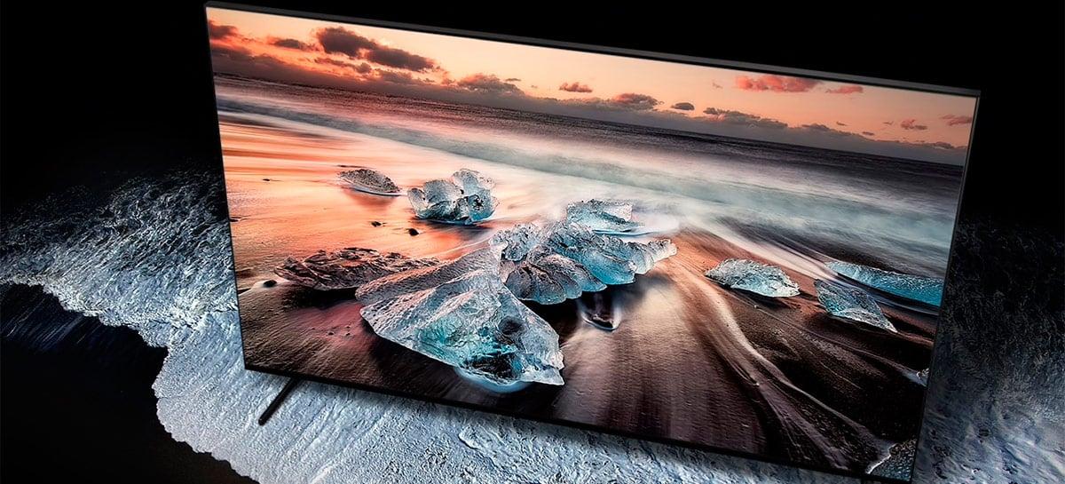 """TV 8K de 98'' da Samsung recebe desconto de 50% e sai por """"apenas"""" US$ 50.000"""