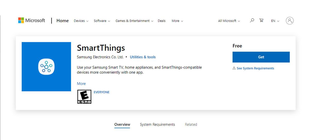 Samsung lança nova aplicativo SmartThings para IoT no Windows 10