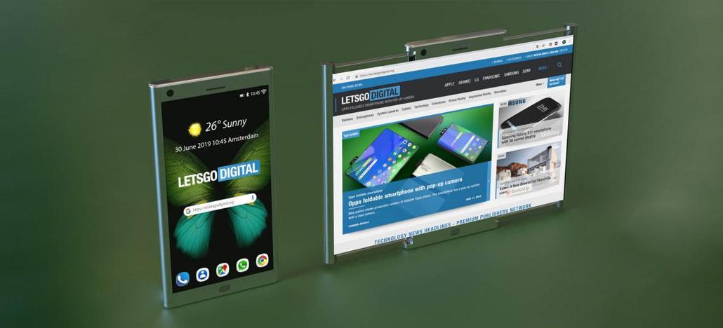 Samsung registra patente de suposto aparelho com display expansível por sistema de trilhos