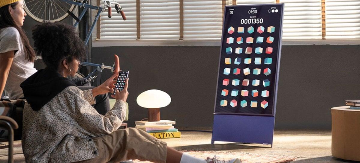 Samsung lança no Brasil a TV The Sero, primeira do mercado que gira para a vertical