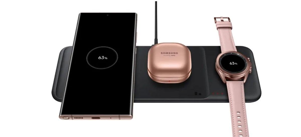 Samsung revela mais detalhes do carregador sem fio Wireless Charging Trio