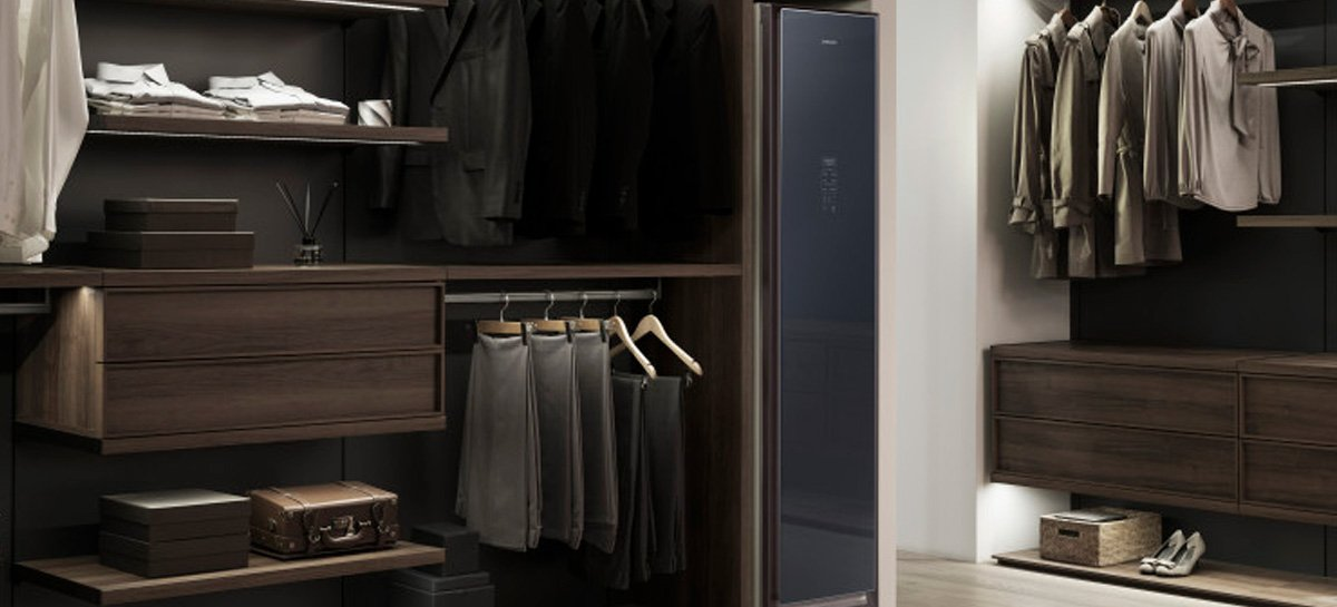 Samsung apresenta AirDresser, que higieniza e limpa roupas, sem precisar lavá-las