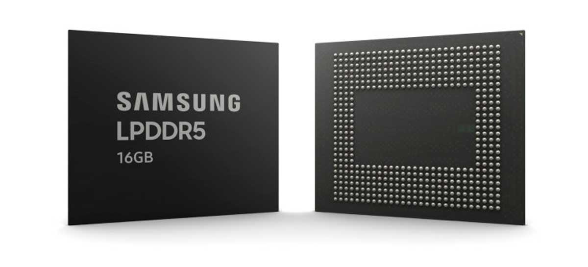 Samsung anuncia produção em massa da DRAM LPDDR5 de 16 GB, em 10nm