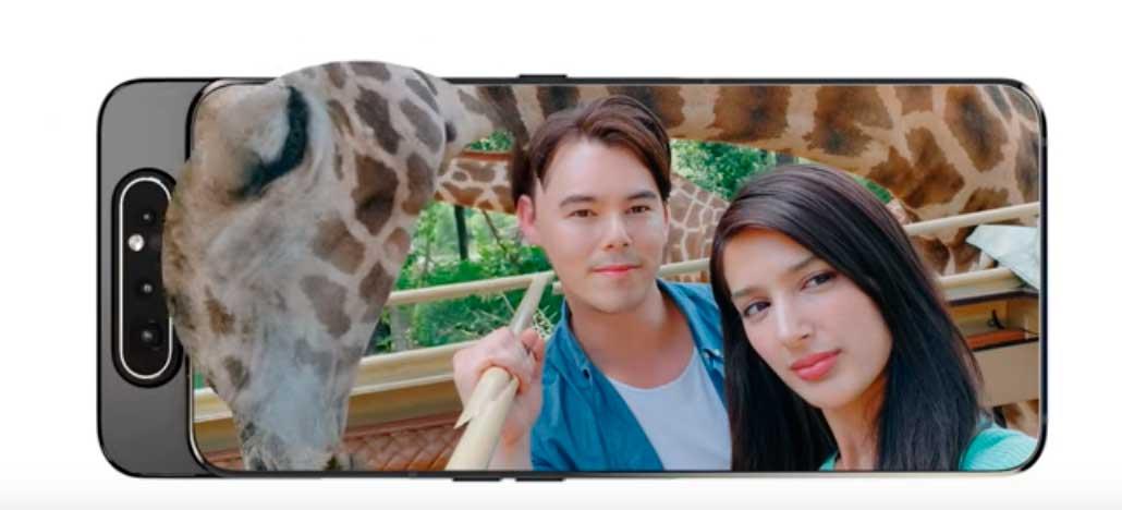 Samsung destaca as qualidades da câmera flip-up do Galaxy A80 em vídeo promocional