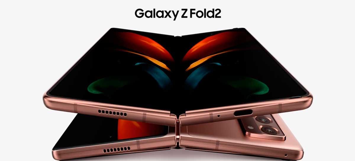 Análise do Galaxy Z Fold 2 diz que ele é o melhor smartphone dobrável do mercado