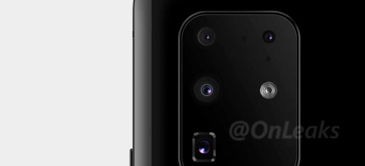 Vaza imagem da suposta câmera quádrupla do Samsung Galaxy S11+