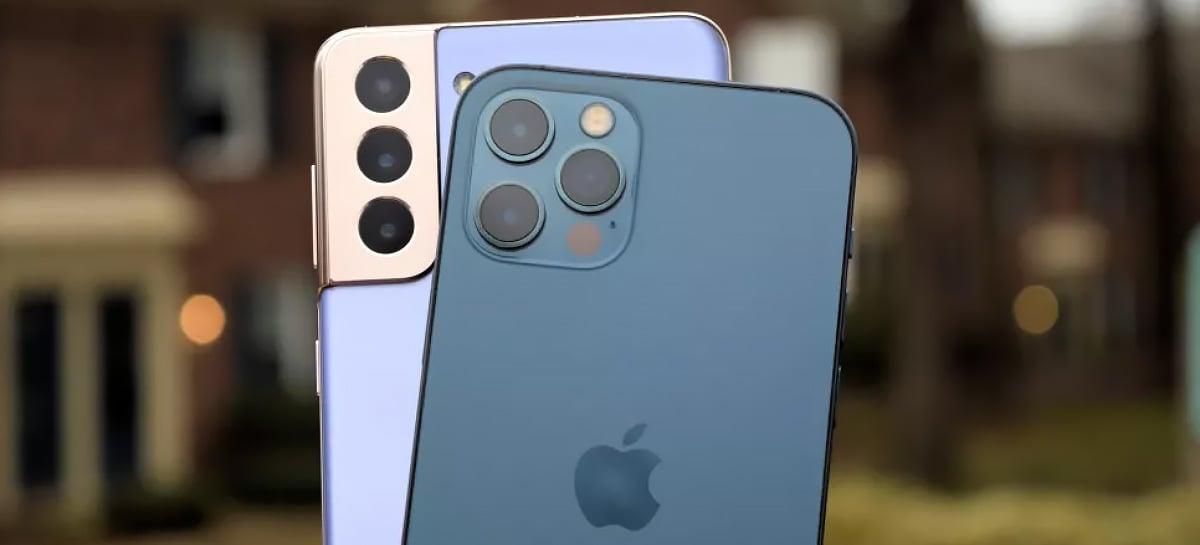 Samsung provoca Apple ao zombar das câmeras do iPhone 12 Pro Max