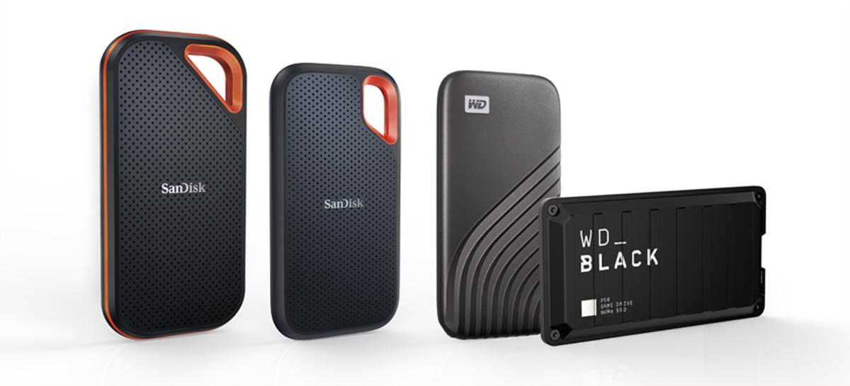 Western Digital lança SSDs portáteis WD e Sandisk com até 4TB e 2000MB/s