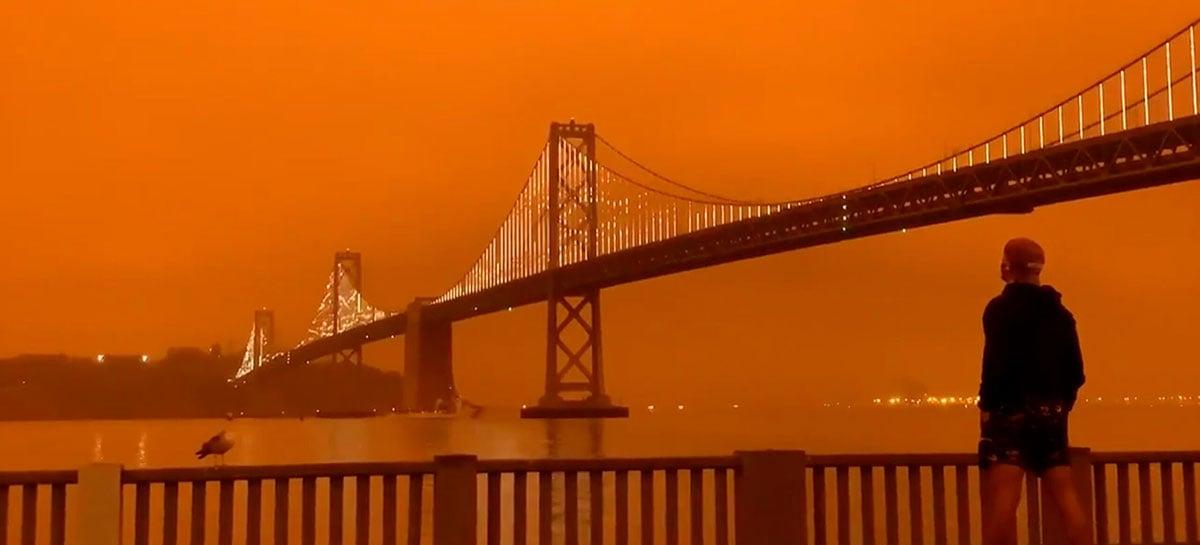 Céu alaranjado toma conta de São Francisco, confira algumas imagens impressionantes do evento!