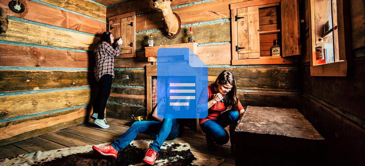 Quer participar de um Scape Room grátis com os amigos? Faça isso pelo Google Docs!
