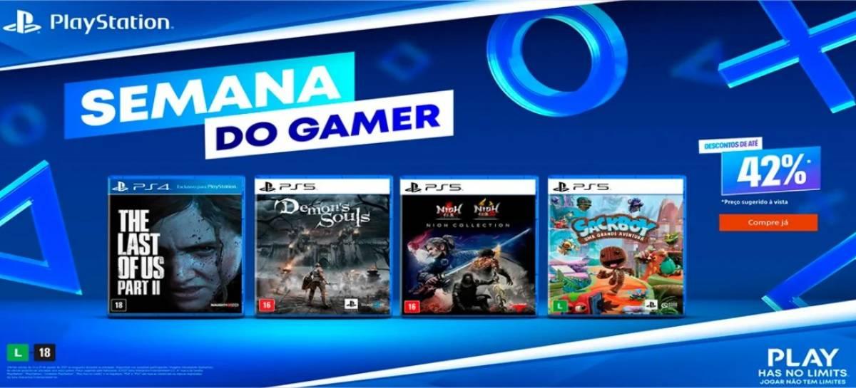 """Sony promove """"Semana do Gamer"""" com descontos em jogos de PS4 e PS5"""