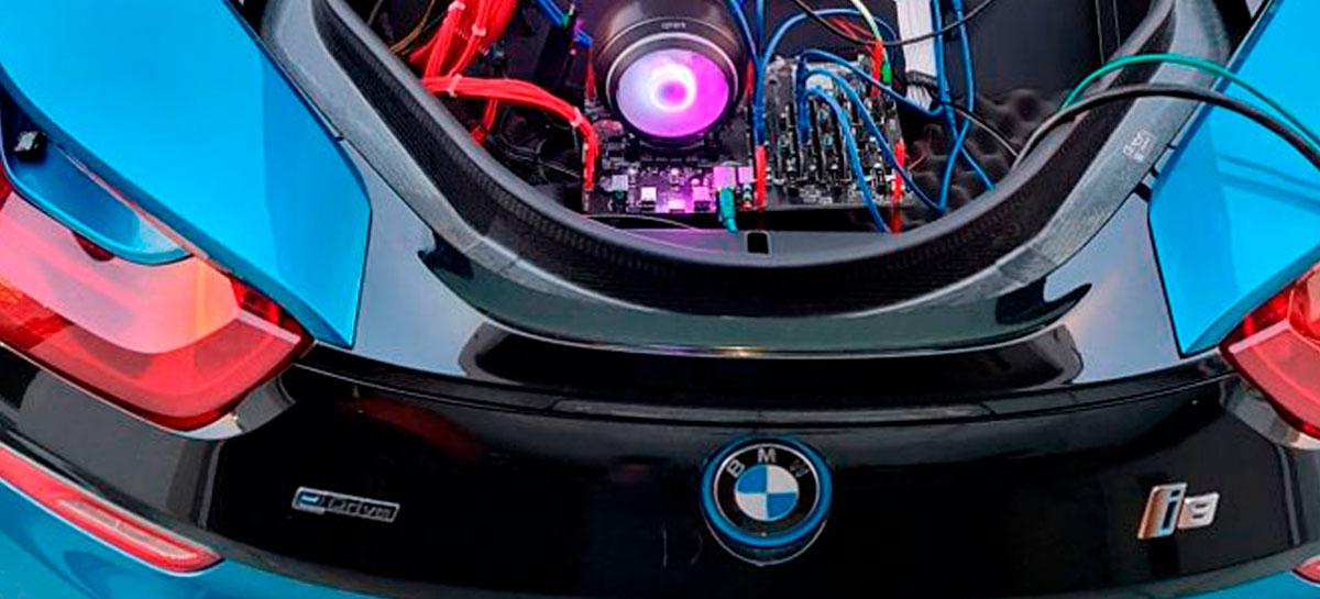 Entusiasta desenvolve sistema de mineração de criptomoedas em um BMW i8