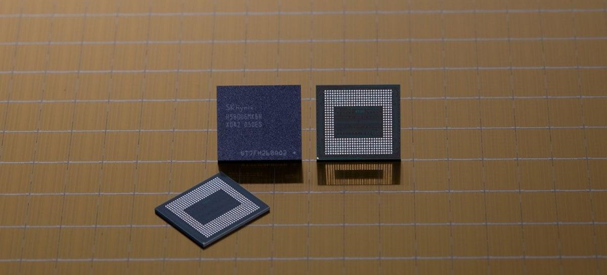 SK hynix iniciou produção em massa de LPDDR5 18GB para celulares