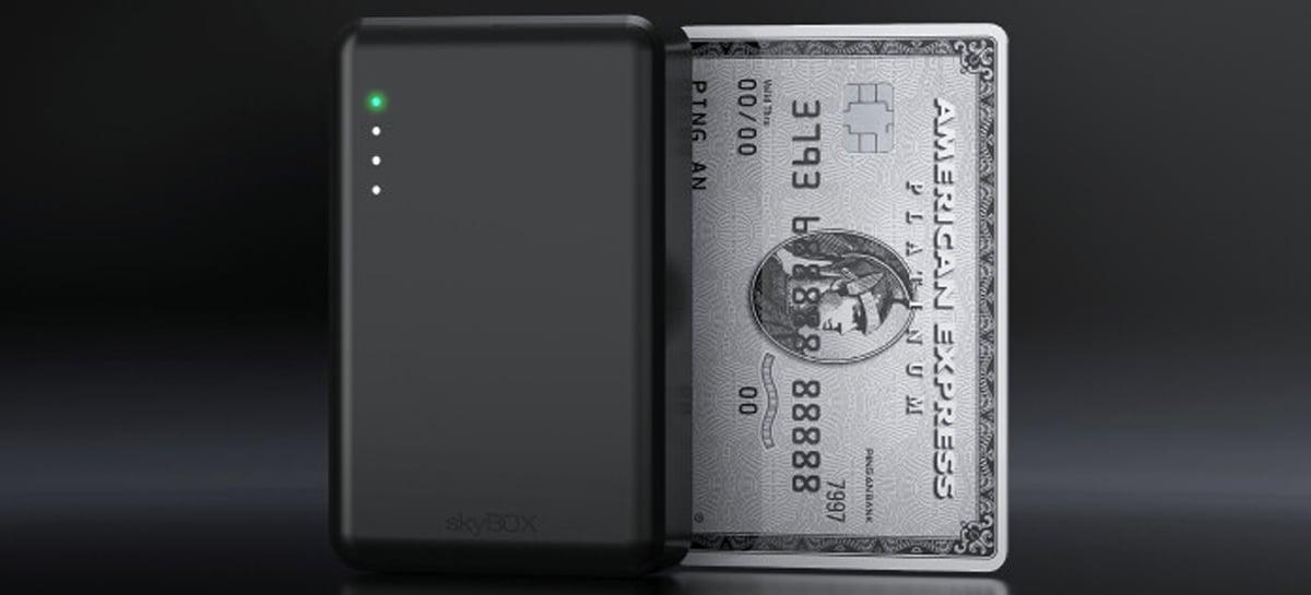 skyBOX é o SSD do tamanho de um cartão de crédito com até 4TB e conexão Wi-Fi 6