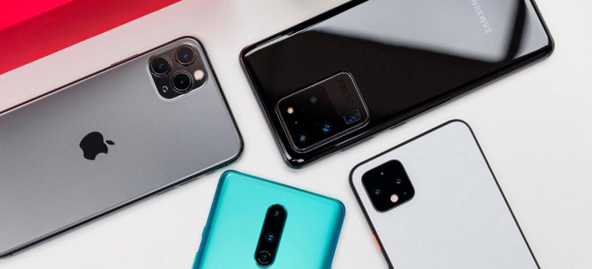 Vendas de smartphones crescem, Samsung lidera, Apple recupera e Huawei cai mais