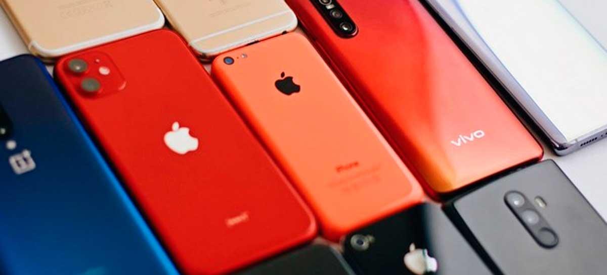 """Vendas de smartphones caem durante a pandemia, mas Apple é """"salva"""" pelo iPhone SE"""