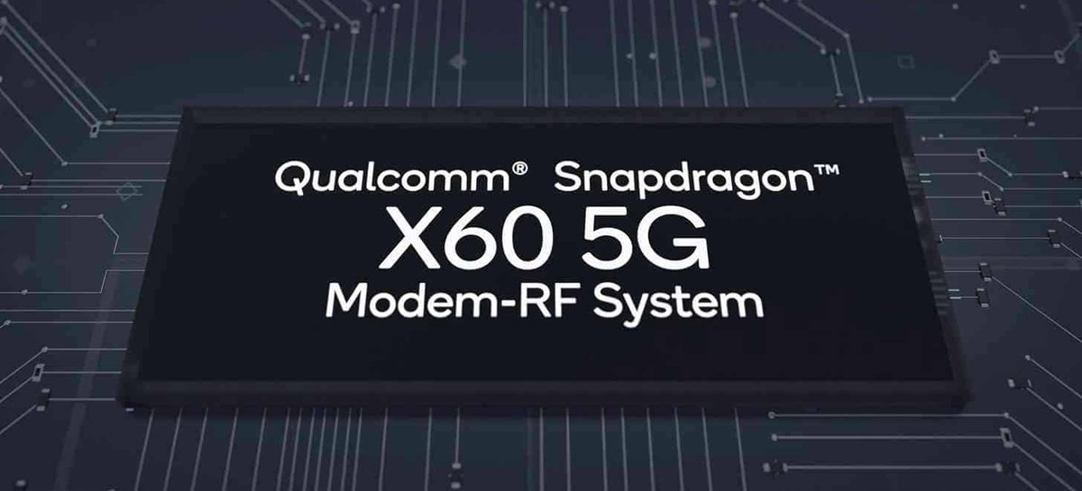 Qualcomm lança modem 5G X60 produzido em 5nm e com capacidade de download de até 7.5 Gbps